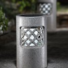 Granite Look Outdoor Accent Solar Pillar Light