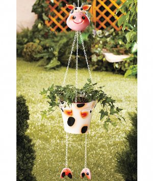 Hanging Cow Planter