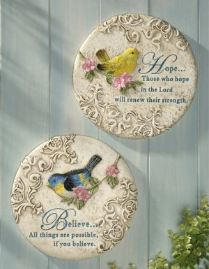 Inspirational Birds Wall Hanging Set