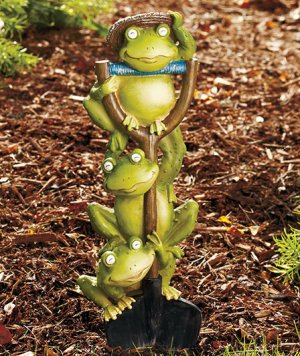 Frog Shovel Stake Garden Yard Decor