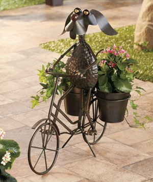 Dog Bike Planter