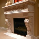 "62"" Chateau Series King Henry Stone Fireplace Mantel Mantle"