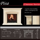 "62"" Chateau Series Pisa Stone Fireplace Mantel Mantle"