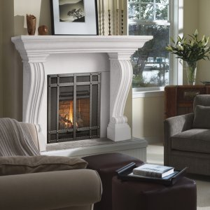 "54"" Symphony Series Jordana Stone Fireplace Mantel Mantle"