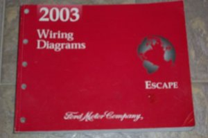 Genuine 2003 Ford Escape FACTORY WIRING DIAGRAM MANUAL