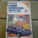 1978-1982 Chilton&#39;s Omni Horizon Shop Manual