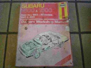 1980-1983 Haynes Subaru 1600 & 1800 Owners Workshop Manual