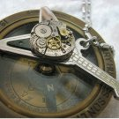 Steampunk Guitar Necklace Guitar with a vintage watch movement free shipping worldwide