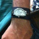 Wave Wavy Time Warp Leather Wrap Dali Fluid Watch