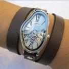 Leather Watch-Women wrist watch-Bracelet wrap Watch Wrap Dali Fluid Watch
