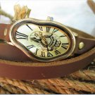 bracelet Watch, Men's watch, women's watch Silver Dali Fluid - Wrist Watch -Leather Watch