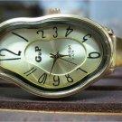 wrap Watch Elegant Wave Wavy Time Warp Silver Wrap Dali Fluid Watch - Wrist Watch - Leather Watches