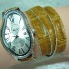 Leather Watch,Women wrist watch,Multi thin wraps tan Watch Roman Numbers Design Salvador Dali Watch