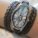 Warped Watch,Women wrist watch,SoftWatch,Soft Watch,Wave Wavy,Time Warp,Silver Wrap,Dali Fluid