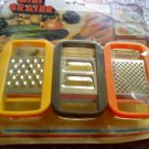 6 pc. Mini Grater Yellow ,Orange and Brown MINI GRATER SET