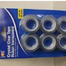 "6 pc JOT  Crystal Clear Ruban Transparent  Dispenser Refills 3/4"" x 600"" Tape"