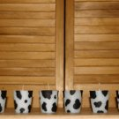 Cow Print Votive Candles 6 Set. Triple Scented Wax