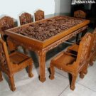 Teak hand Carved Dining Sets