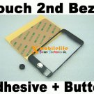 Plastic Bezle Frame Adhesive Glue Home Button key for iPod Touch 2nd Gen 8GB 16GB 32GB