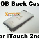 8GB Metal Back Rear Case Housing Cover Shell for iPod Touch 2nd Gen