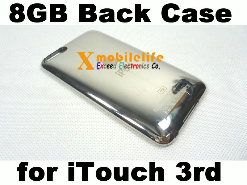 8GB Metal Back Rear Case Housing Cover Shell for iPod Touch 3rd Gen