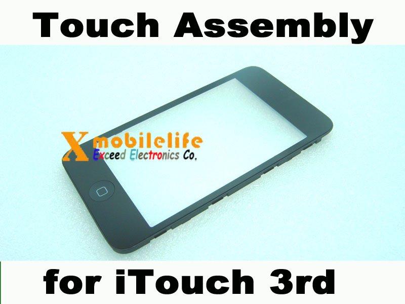 Touch Digitizer Screen Plastic Bezel Frame Home Button Key Flex for iPod Touch 3rd Gen 32GB 64GB