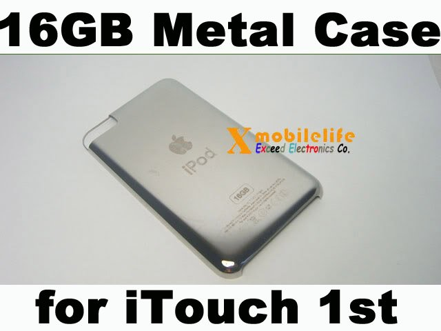 16GB Metal Back Housing Case Cover Shell for iPod Touch 1st Gen