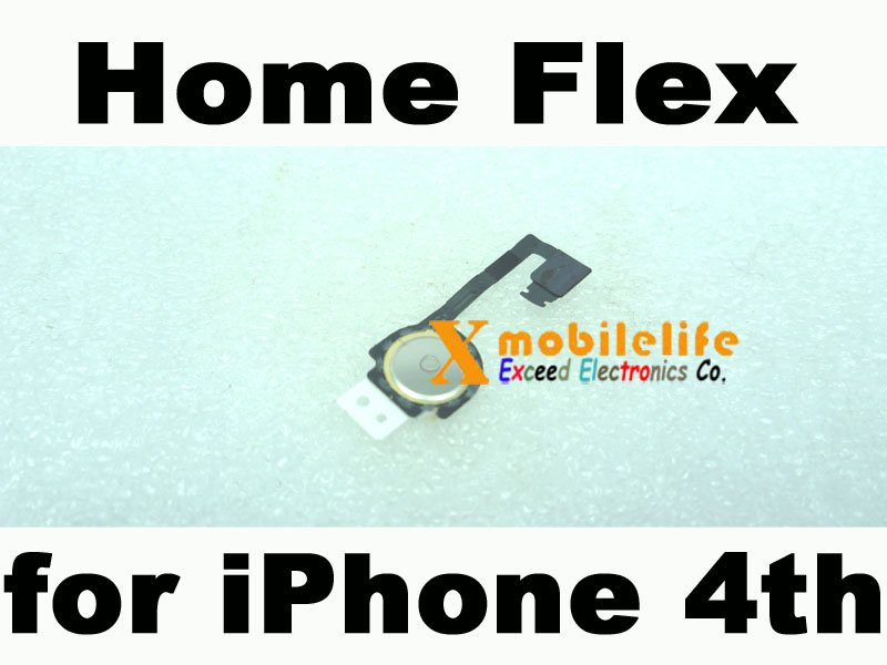 New OEM Home Button key Flex Ribbon Cable for iPhone 4th Gen 4G 16GB 32GB