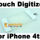 White Touch Digitizer Glass Screen Faceplate for iPhone 4th Gen 4G 16GB 32GB