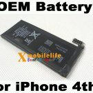 OEM 1420mAh Li-ion Spare Battery for iPhone 4th Gen 4G 16GB 32GB