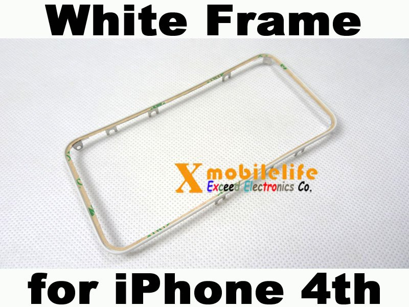 White Plastic Middle Touch Digitizer Screen Frame Bezel Adhesive for iPhone 4th Gen 16GB 32GB