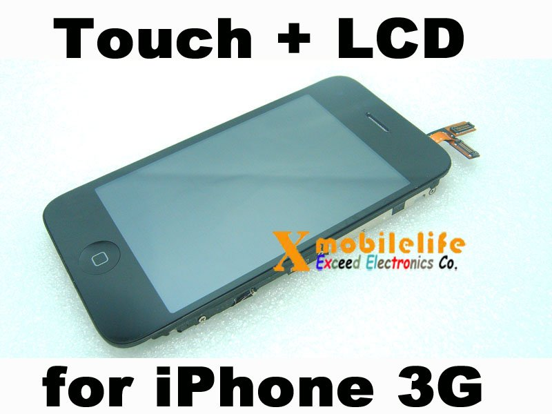 Touch Digitizer Glass Screen LCD Display Plastic Frame for iPhone 2nd Gen 3G 8GB 16GB 32GB