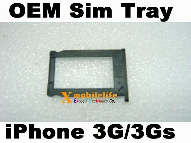 Black Plastic Sim Tray Sim Card Holder for iPhone 3rd Gen 3Gs 8GB 16GB 32GB
