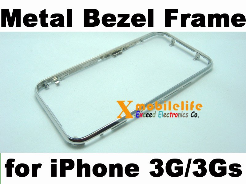 Metal Middle Bezel Chrome Frame Housing for iPhone 2nd Gen 3G 8GB 16GB 32GB