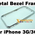 Metal Middle Bezel Chrome Frame Housing for iPhone 3rd Gen 3Gs 8GB 16GB 32GB