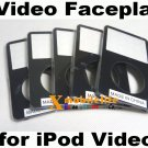5pcs/lot Black Front Faceplate Fascia Housing Case Cover for iPod 5th Gen video 30GB 60GB 80GB