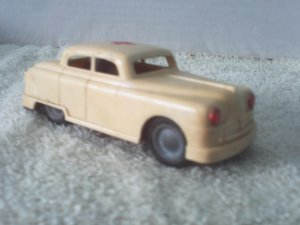 Red Cross Car Friction Foreign Rare Vintage