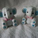 Stuffed Elephant Look salt And pepper shakers