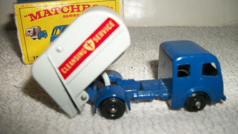 Lesney Matchbox 1963 Refuse Truck 15 MIB