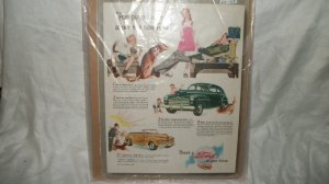 1947 Ford Car Ad Original