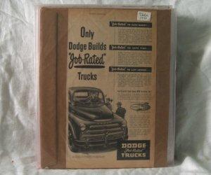 1950 Dodge Truck Jobs Rated Original Print Ad