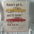 Kaiser 1951 Print Ad Deluxe