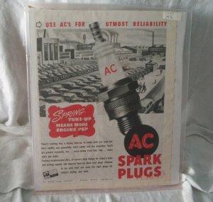 AC Spark Plugs 1947 Print Ad