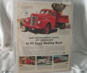 International KB Models 1947 Print Ad