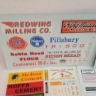 VINTAGE SIGN DECALS For Diecast Train Layouts Dioramas