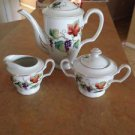 OCCUPIED JAPAN TEA POT Creamer And Sugar Set Very Nice