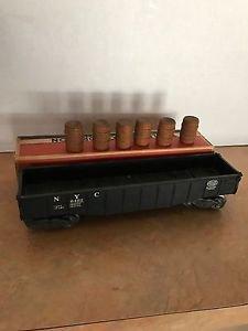 Lionel 6462 Black New York Central Gondola w/Barrels Postwar With Original Box
