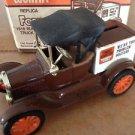 1988 ertl 1918 ford runabout trust worthy diecast truck bank MIB