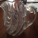 Vintage Swirl Glass Pitcher Bead Glass Swirl Gorgeous heavy