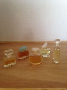 Art DECO Press Glass MINI BOTTLES Estee Lauder Dazzling Others